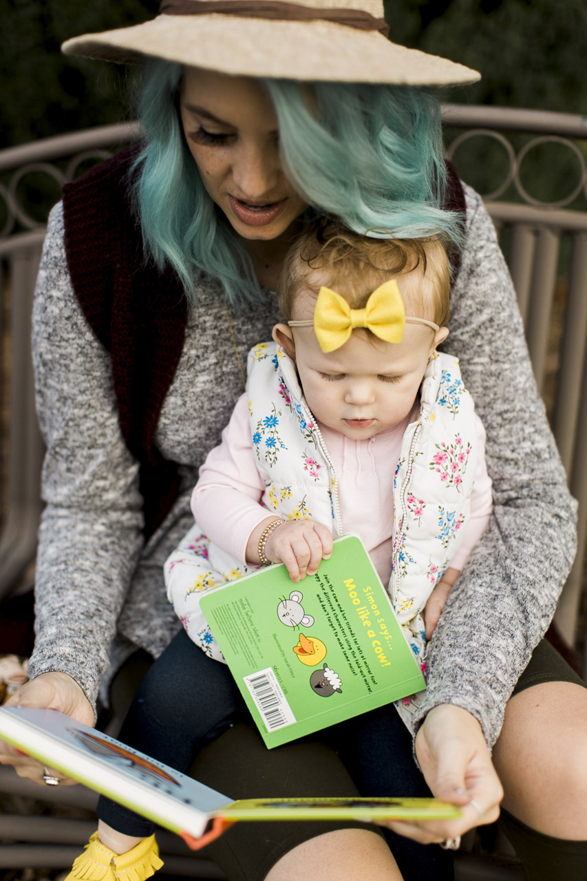 Reading, Baby Books, Blue Hair