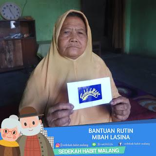 Mbah Lasina : Bantuan Rutin