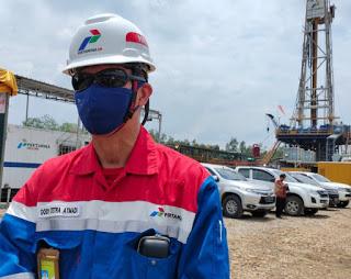 Kebakaran flowline sumur minyak BNG-45 PT. Pertamina asset 2 Adera berhasil di padamkan