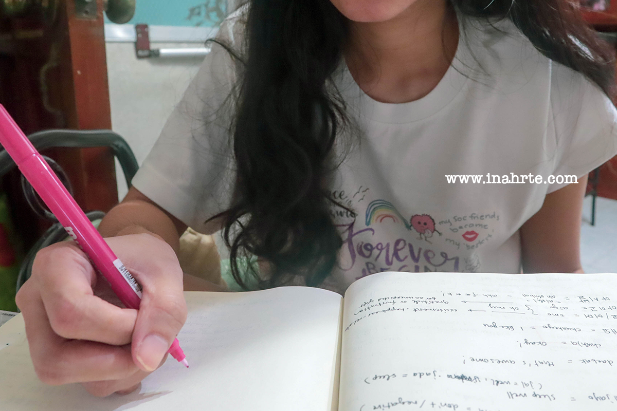 inahrte | study korean hanguel with me | how to learn korean 2