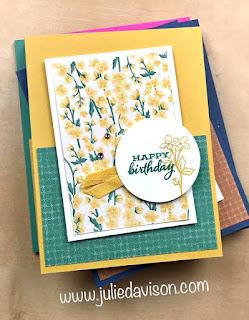 Stampin' Up! Four Season Floral Stamp-a-Stack Cards ~ VIDEO ~ www.juliedavison.com #stampinup #onesheetwonder #osw