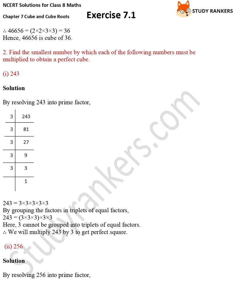 NCERT Solutions for Class 8 Maths Ch 7 Cube and Cube Roots Exercise 7.1 4