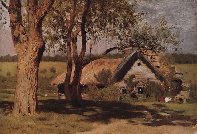 Исаак Ильич Левитан - Домик с ракитами. Первая половина 1880-х