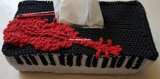 free crochet pattern, free crochet motif pattern, free crochet violin motif pattern, free crochet piano shaped tissue box cover pattern, free crochet violin bow pattern, polyester purse yarn,