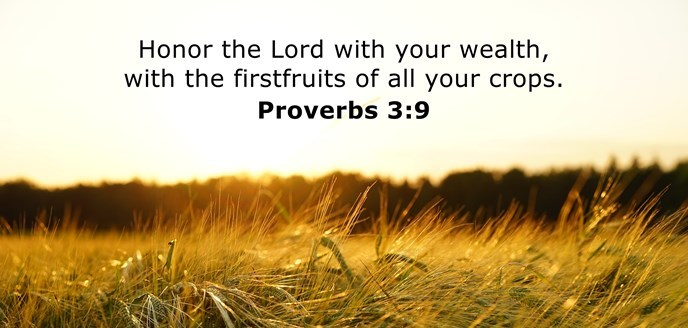 Honor the Lord with your wealth, with the firstfruits of all your crops.