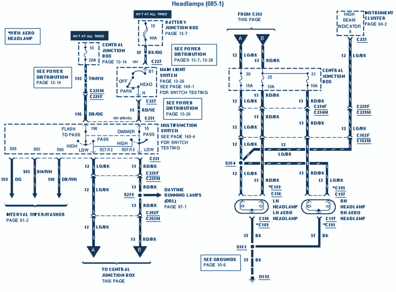 ford e 350 wiring diagram for light