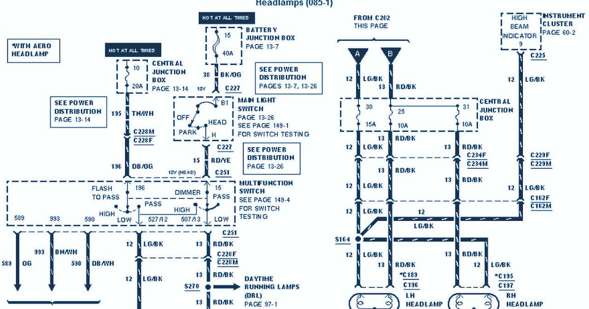 2000 Ford E 350 electrical Wiring Diagram | Circuit