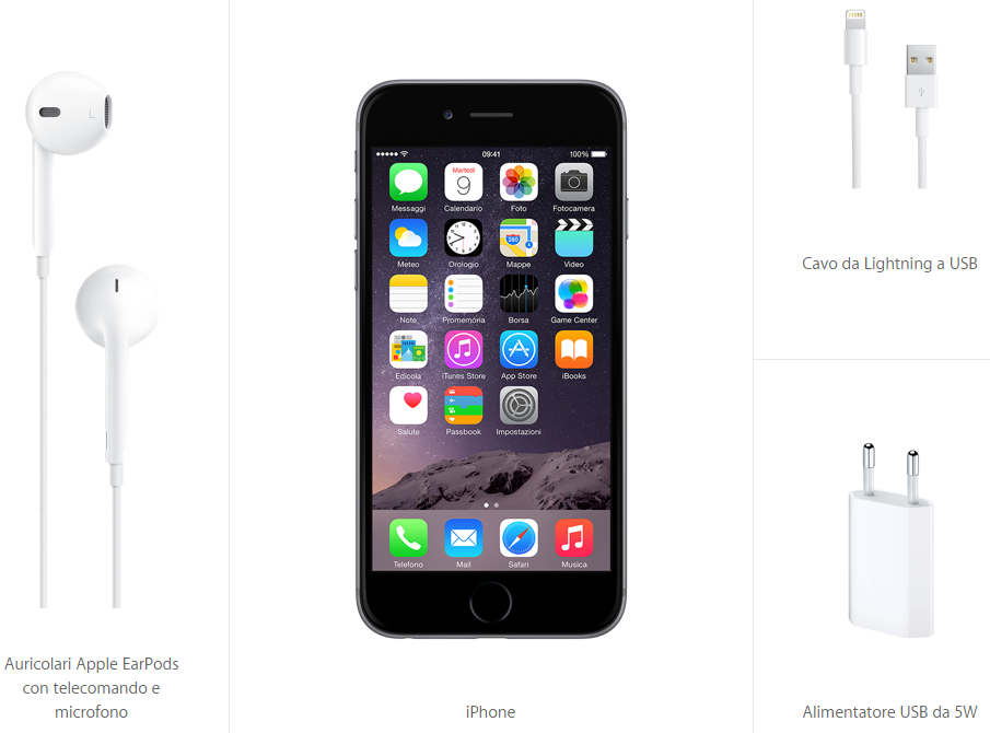 Contenuto confezione iPhone 6 e iPhone 6 Plus - iPhone 6s - 6s Plus