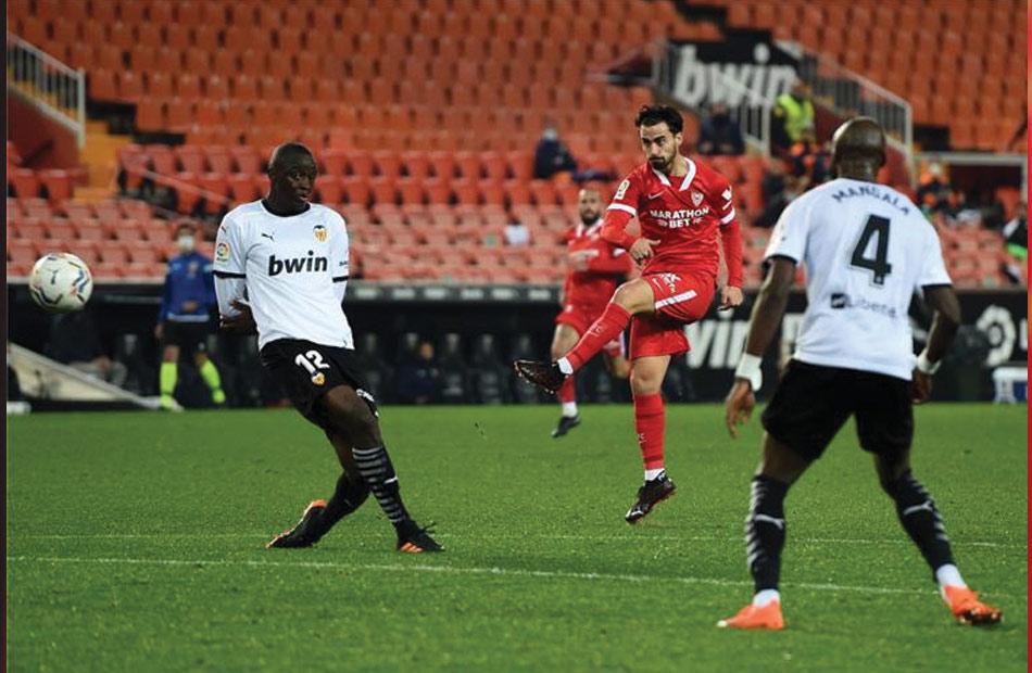 موعد مباراة اشبيليه وفالنسيا ضمن الدوله السادسة والثلاثون من الدوري الاسباني