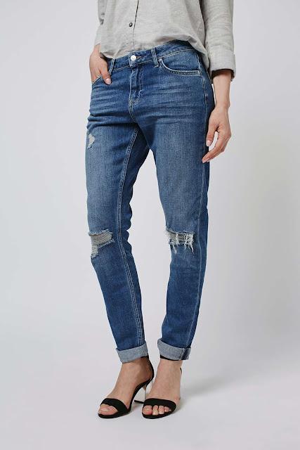 ripped lucas jeans, lucas boyfriend jeans ripped knee,