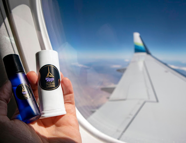 Travel with Pelindaba's Organic Lavender Essential Oil and Lavender Treatment Stick