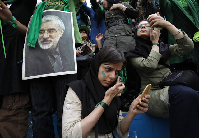 Image Attribute: In 2009, youth protested for months in support of the reformist Mousavi, creating the 'Green Movement'. Ahmed Jadallah/Reuters