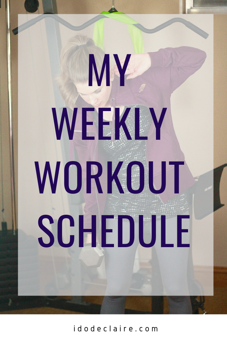 My Weekly Workout Schedule