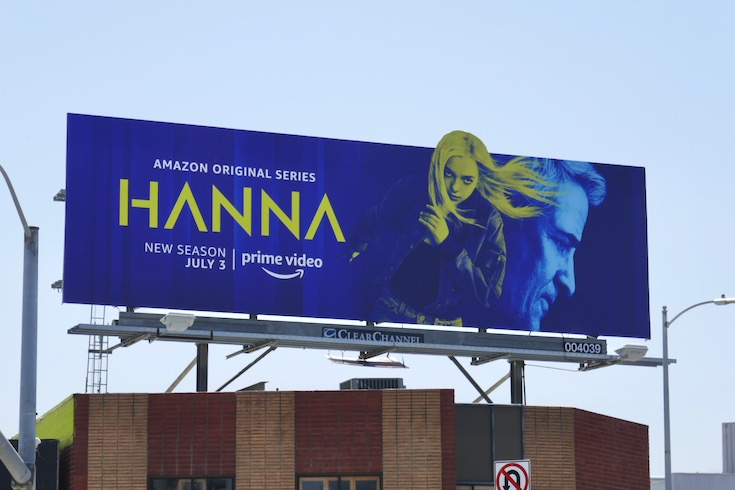 Hanna season 2 extension cut-out billboard