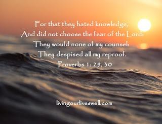 Proverbs 1:29:30