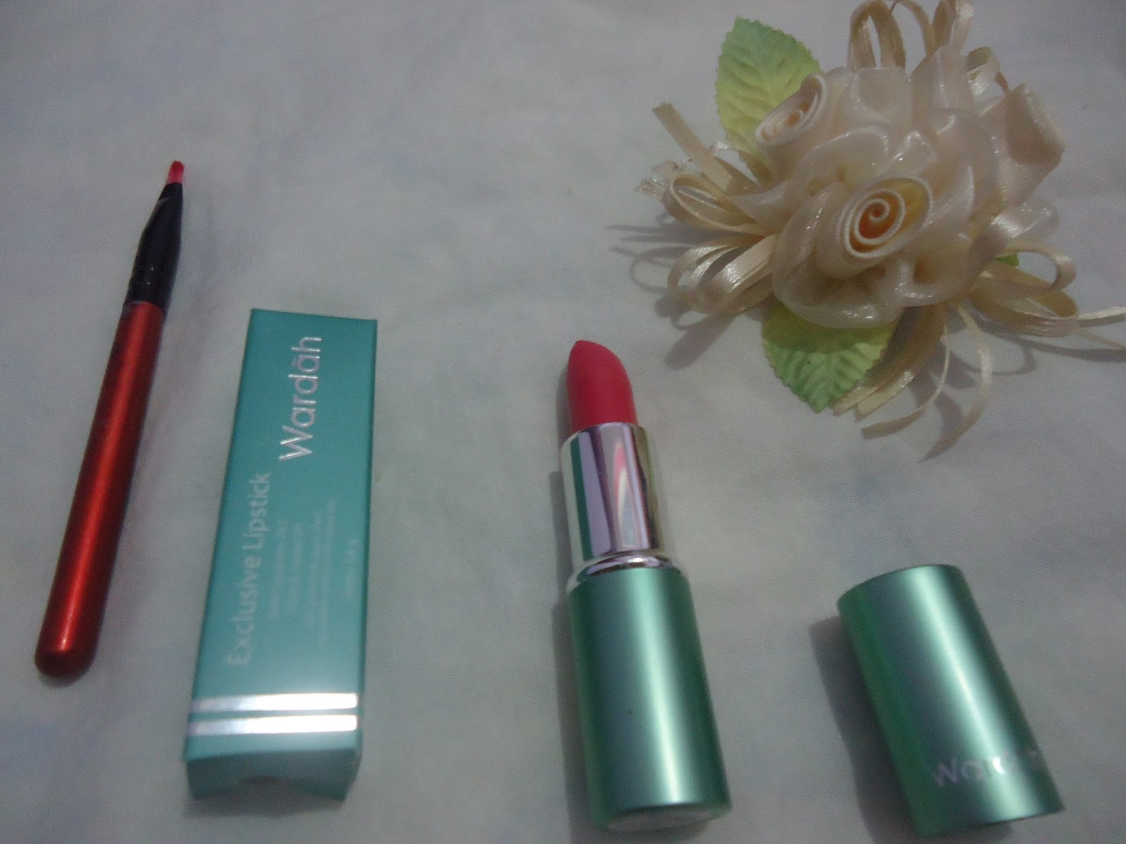 uli mayang Review WARDAH Exclusive Lipstick orchid pink 21