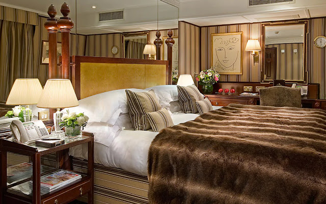 The Chesterfield Mayfair Hotel has 94 rooms and 16 suites of luxury accommodation and is located just off Berkeley Square in London.