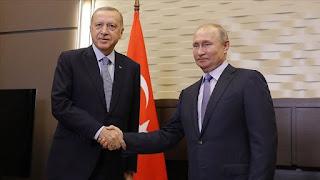 أردوغان وبوتين يبحثان هاتفيا مستجدات الأوضاع في سوريا