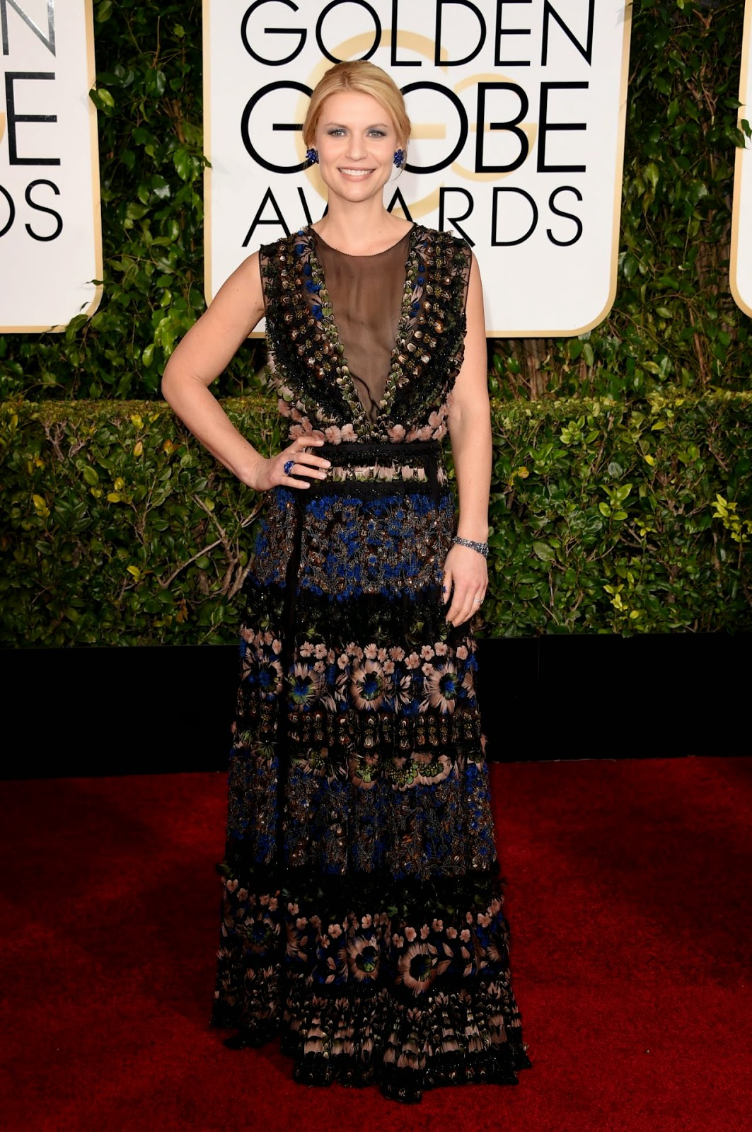 Claire Danes dazzles at the 2015 Golden Globe Awards