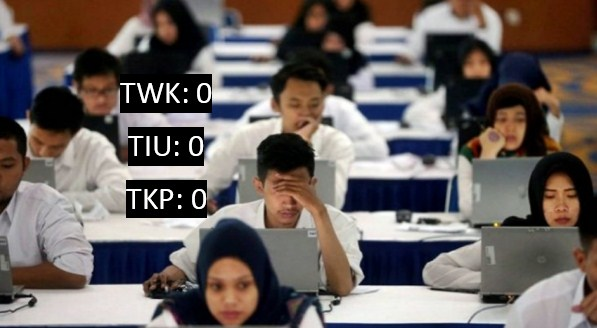 sekarang sudah dalam tahap Seleksi Kompetensi Dasar  soal SKB terbaru :  Lakukan Kesalahan, Peserta Tes SKD CPNS Dapat Nilai Nol
