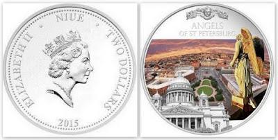 Монета 2 доллара 2015 г. Ниуэ.га.