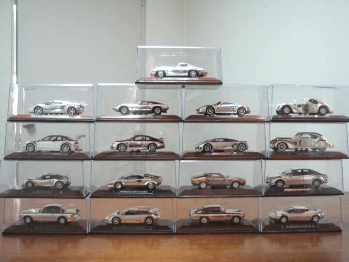 coleccion joyas del automovil en plata 1:43 riguse