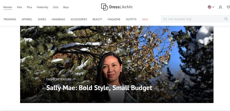 DressLikeMe Featured The Budget Fashion Seeker!