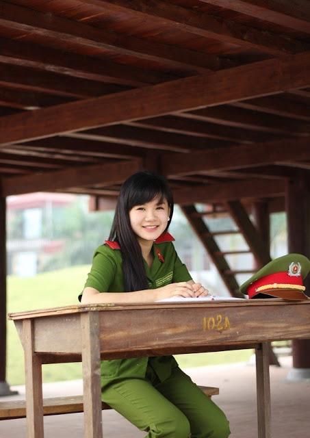 nhung nu sinh xinh dep cua hoc vien canh sat nhan dan 3 - Tổng Hợp các HOT Girl Nữ Cảnh Sát đốn tim FAN nhất Việt Nam