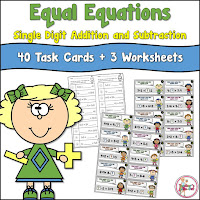 Equal Equations Task Cards