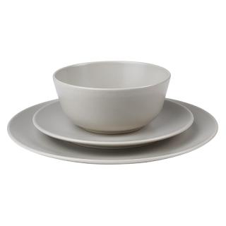 Jen Widners light gray modern dinnerware set called dinera from IKEA