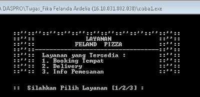 Membuat Program Layanan Pemesanan Pizza Menggunakan Bahasa C++