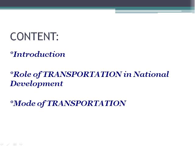 TRANSPORTATION PPT DOWNLOAD