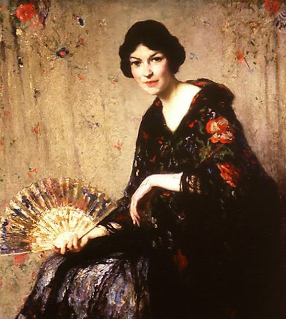 Francis Luis Mora, International Art Gallery, Portrait of woman