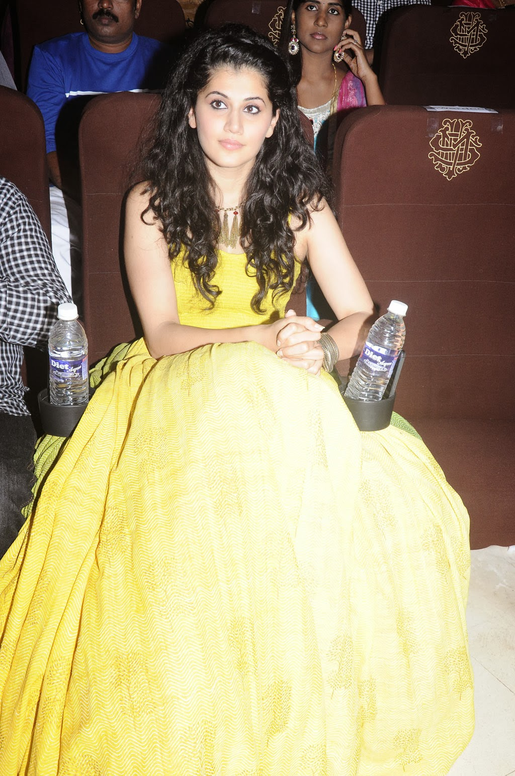Tapsee Latest Hot Photoshoot Stills In Yellow Dress