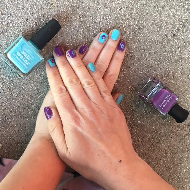 nail art, Whats Up Kisses Nail Stencils, Picture Polish Salt Water By Nailstorming, Deborah Lippmann Maniac, nails, nail polish, nail varnish, nail lacquer, manicure