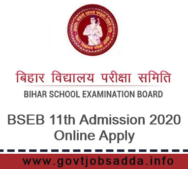 BSEB 11th Admission 2020 Online Apply Notification, Bihar Board 11th Admission 2020