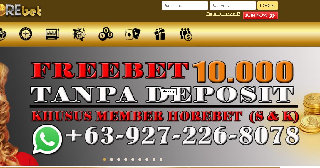 Freebet Judi Gratis Rp. 10.000 - Horebet