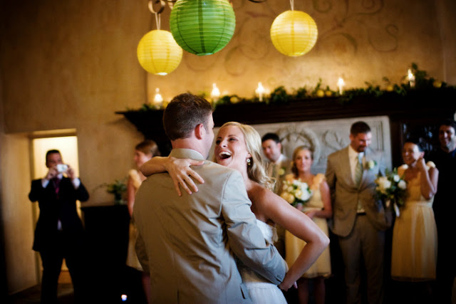 first dance | vintage california chic wedding of Oh Lovely Day | Photo by Jennifer Roper