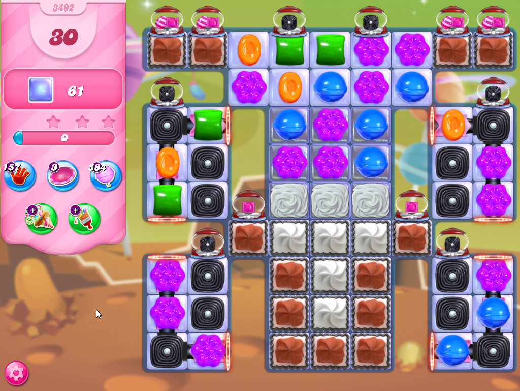 Candy Crush Saga level 3492