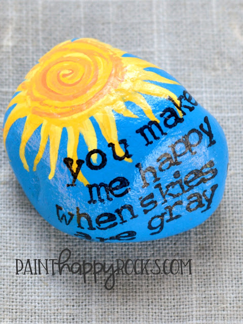 rock painting ideas - you are my sunshine