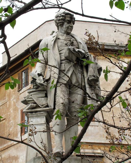 Monument to Pietro Metastasio by Emilio Gallori, Piazza della Chiesa Nuova (Moved in 1910), Rome