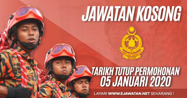jawatan kosong JabatanBomba dan Penyelamat Malaysia 2020