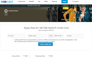 STYLEUP Contactless Card, How to Apply SBI Credit Card Online