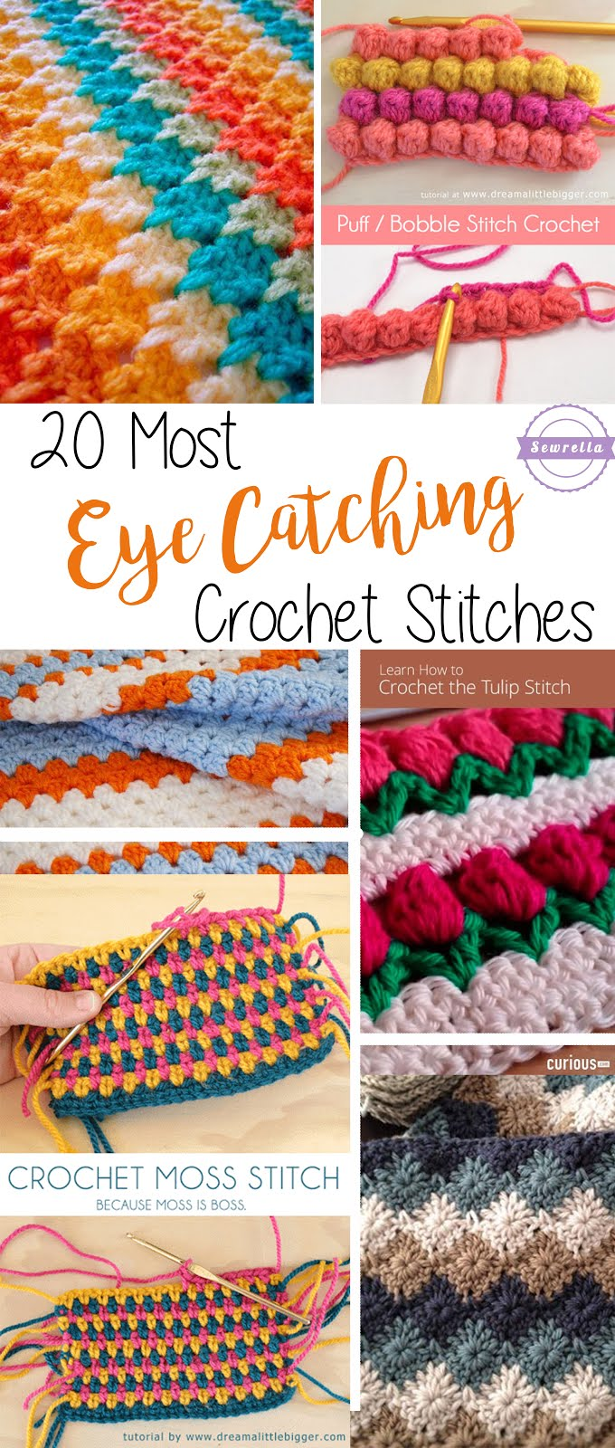 20 Most Eye-Catching Crochet Stitches - Sewrella