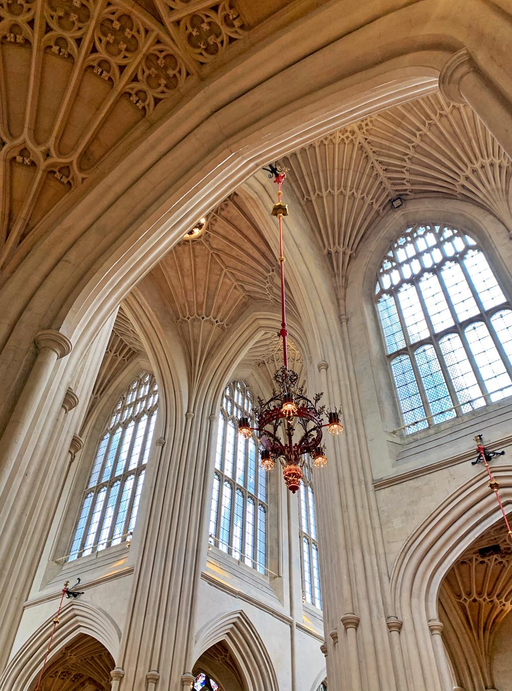 Bath Abbey fan vaulting, English architecture - Emma Louise Layla, UK travel & lifestyle blog