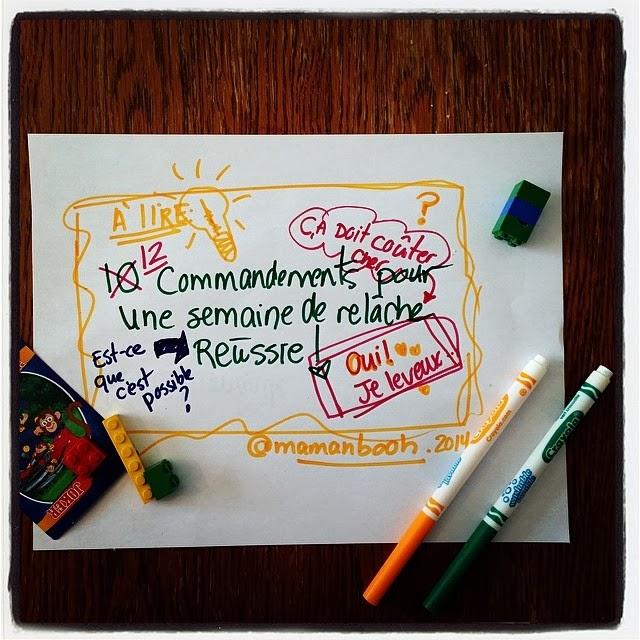Survivre à la semaine de relâche sans se ruiner: chronique, liens, idées, vidéos #LCN #relâche