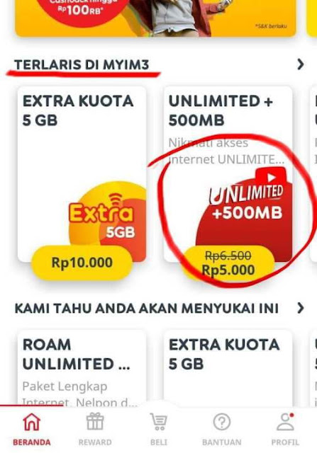 Paket Unlimited Youtube Indosat