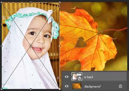 Perubahan ukuran foto dengan Free-Transform