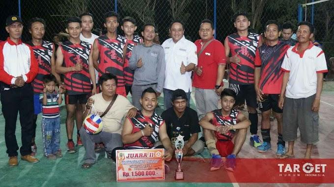 Final Turnamen Bola Voli Piala Camat Cup Dihadiri Wabup