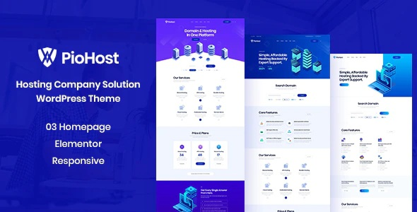 Piohost Responsive WordPress Theme